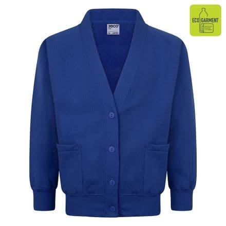Ysgol Llangoed Cardigan in Royal Blue