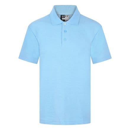 Ysgol Llangoed Polo shirt in Sky Blue