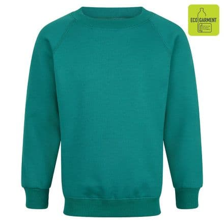 Ysgol Y Borth Sweatshirt in Jade