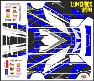 (Choose Colour) Dirt Motocross themed vinyl SKIN Kit To Fit Tamiya Lunchbox R/C Monster Truck