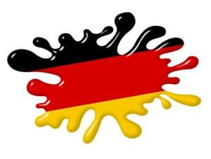 3D Shaded Effect SPLAT Design With Germany German Flag Motif External Vinyl Car Sticker 100x150mm