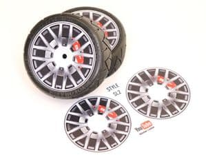 4pcs Realistic Alloy Wheel design stickers to fit Revlite etc 1/10 RC Model Touring car rims SL2