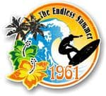 Aged The Endless Summer 1961 Dated Surfing Surfer Design Vinyl Car sticker decal 100x90mm