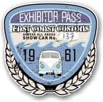 Aged  Vintage 1961 Dated Car Show Exhibitor Pass Design Vinyl Car sticker decal  89x87mm