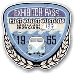 Aged Vintage 1965 Dated Car Show Exhibitor Pass Design Vinyl Car sticker decal  89x87mm