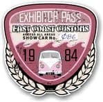 Aged Vintage 1984 Dated Car Show Exhibitor Pass Design Vinyl Car sticker decal  89x87mm