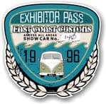Aged Vintage 1996 Dated Car Show Exhibitor Pass Design Vinyl Car sticker decal  89x87mm
