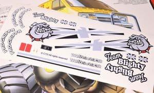 B&W UK British Bulldog theme vinyl stickers to fit Tamiya Lunch Box inc. Tyre Decals