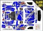 BLUE Sharks Teeth themed vinyl SKIN Kit To Fit Traxxas Slash 4x4 Short Course Truck