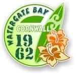 Cornwall Watergate Bay 1962 Surfer Surfing Design Vinyl Car sticker decal 97x95mm