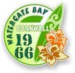 Cornwall Watergate Bay 1966 Surfer Surfing Design Vinyl Car sticker decal 97x95mm