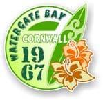 Cornwall Watergate Bay 1967 Surfer Surfing Design Vinyl Car sticker decal 97x95mm