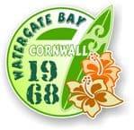 Cornwall Watergate Bay 1968 Surfer Surfing Design Vinyl Car sticker decal 97x95mm