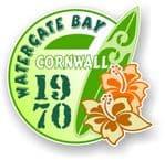Cornwall Watergate Bay 1970 Surfer Surfing Design Vinyl Car sticker decal 97x95mm