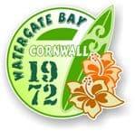 Cornwall Watergate Bay 1972 Surfer Surfing Design Vinyl Car sticker decal 97x95mm