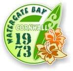 Cornwall Watergate Bay 1973 Surfer Surfing Design Vinyl Car sticker decal 97x95mm
