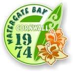 Cornwall Watergate Bay 1974 Surfer Surfing Design Vinyl Car sticker decal 97x95mm