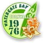 Cornwall Watergate Bay 1976 Surfer Surfing Design Vinyl Car sticker decal 97x95mm