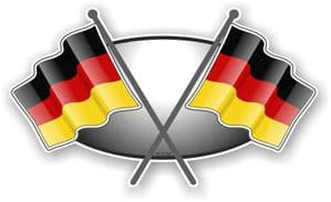 Crossed Flags Design with German Germany Flag Vinyl Car Sticker Decal 90x52mm (5)