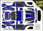 Dark Blue Carbon GT themed vinyl SKIN Kit To Fit Traxxas Slash 4x4 Short Course Truck