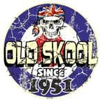 Distressed Aged OLD SKOOL SINCE 1951 Mod Target Dated Design Vinyl Car sticker decal  80x80mm
