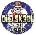 Distressed Aged OLD SKOOL SINCE 1959 Mod Target Dated Design Vinyl Car sticker decal  80x80mm