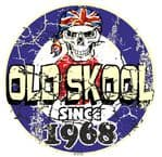 Distressed Aged OLD SKOOL SINCE 1968 Mod Target Dated Design Vinyl Car sticker decal  80x80mm
