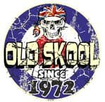 Distressed Aged OLD SKOOL SINCE 1972 Mod Target Dated Design Vinyl Car sticker decal  80x80mm