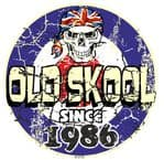 Distressed Aged OLD SKOOL SINCE 1986 Mod Target Dated Design Vinyl Car sticker decal  80x80mm
