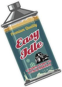 Easy Idle RETRO OIL CAN Funny Design For Rat Look VW Vinyl Car sticker decal 110x55mm
