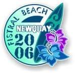 Fistral Beach Newquay 2006 Surfer Surfing Design Vinyl Car sticker decal  95x98mm