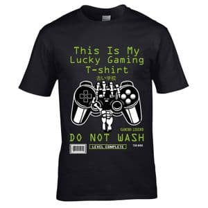 Funny Gamer This Is My Lucky Gaming T-Shirt Do Not Wash Computer Game Motif Birthday Gift tshirt top