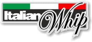 Funny ITALIAN WHIP Slogan With Italian Flag Novelty Bumper Sticker Design Vinyl Car Sticker Decal 160x70mm