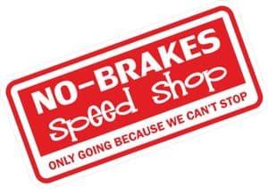 Funny NO BRAKES SPEED SHOP Design For Rat Look VW Vinyl Car sticker decal 145x69mm