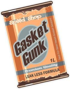 Gasket Gunk RETRO OIL CAN Funny Design For Rat Look VW Vinyl Car sticker decal 110x75mm
