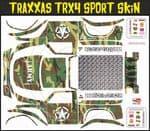 Green Army Camo Themed Vinyl SKIN Kit & Stickers Fits R/C Traxxas TRX4 Sport Rock Crawler