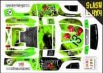 GREEN The Gambler Lucky 13 themed vinyl SKIN Kit To Fit Traxxas Slash 4x4 Short Course Truck