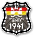 In Wolfsburg Gemacht 1941 Shield Motif Fits All VW External Vinyl Car Sticker 105x120mm