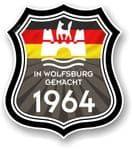 In Wolfsburg Gemacht 1964 Shield Motif Fits All VW External Vinyl Car Sticker 105x120mm