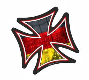 IRON CROSS With Germany German Flag Motif External Vinyl Car Sticker 95x95mm