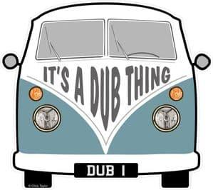 IT's A DUB THING Slogan For Retro SPLIT SCREEN VW Camper Van Bus Design External Vinyl Car Sticker 90x80mm
