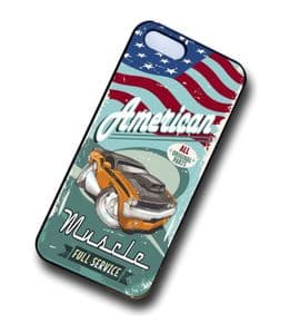 KOOLART AMERICAN MUSCLE Car Dodge Challenger 440 six pack Case For iPhone 4 & 4s