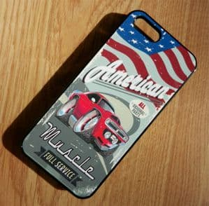 KOOLART AMERICAN MUSCLE CAR PLYMOUTH BARRACUDA Hard Case For Apple iPhone 4 & 4s