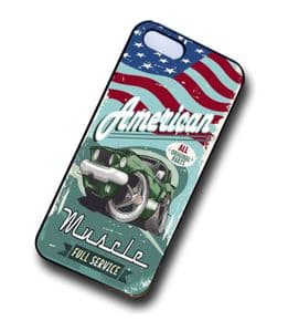 KOOLART AMERICAN MUSCLE Car Retro Ford Mustang 429 Case For Apple iPhone 4 & 4s