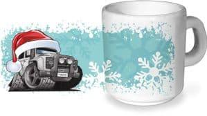 Koolart Christmas Santa Hat Design For Defender Twisted - Ceramic Tea Or Coffee Mug
