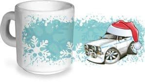 Koolart Christmas Santa Hat Design For MK2 Escort RS Mexico- Ceramic Tea Or Coffee Mug