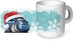Koolart Christmas Santa Hat Design & T4 Transporter Image - Ceramic Tea Or Coffee Mug