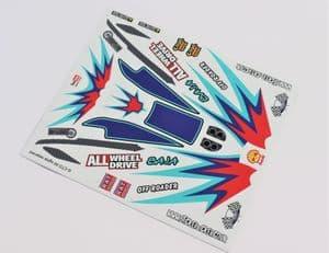 Light Blue Baja themed vinyl stickers to fit R/C Tamiya Dark Impact