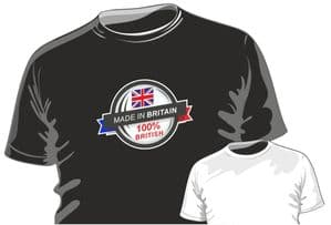 MADE IN Britain 100% British Fun Novelty Design for mens or ladyfit t-shirt