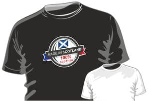 MADE IN Scotland 100% Scottish Fun Novelty Design for mens or ladyfit t-shirt